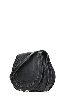 Chloé MARCIE SADDLE BAG IN BLACK GRAIN CALFSKIN 3
