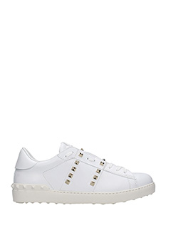 Valentino-Sneakers basse Open in pelle bianca
