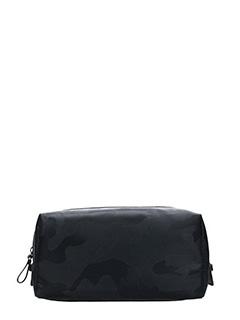Valentino-black nylon clutch