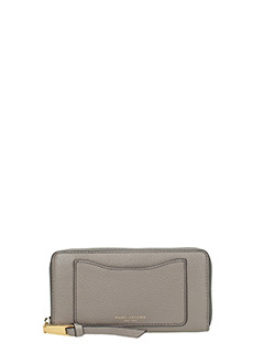 Marc Jacobs-Stand Continental grey leather wallet