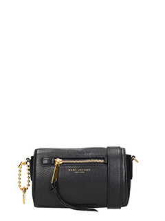 Marc Jacobs-Borsa Recruit Crossbody in pelle nera