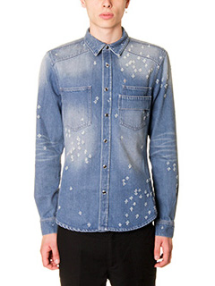 Givenchy-Camicia in denim azzurro