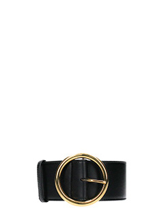 Stella McCartney-black faux leather belt