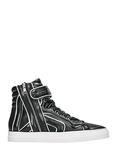 Pierre Hardy-Sneakers Match in pelle nera argento