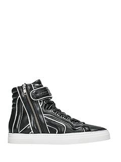 Pierre Hardy-match black leather sneakers