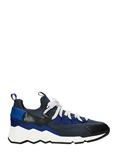 Pierre Hardy-Sneakers Treck Comet in pelle e  nylon blue  nero