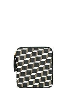 Pierre Hardy-zip wallet black leather clutch