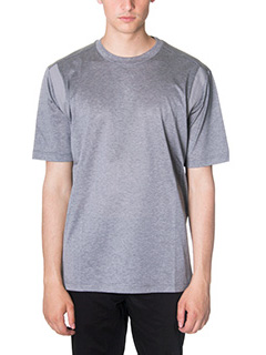 Lanvin-T-Shirt Amhole Crew in jersey grigio