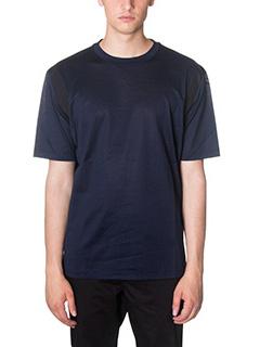 Lanvin-T-Shirt Amhole Crew in jersey blue