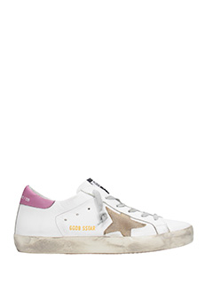Golden Goose Deluxe Brand-Sneakers Superstar in pelle bianca lilla
