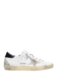 Golden Goose Deluxe Brand-Sneakers Superstar in pelle bianca nera