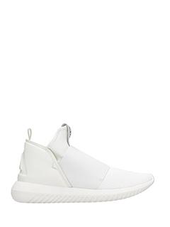 Adidas-Sneakers Tubular Defiant in pelle e tessuto bianco