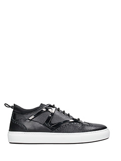 Dsquared 2-Sneakers Whoody in pelle nera
