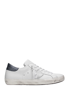 Philippe Model-Sneakers basse Classic in pelle bianca