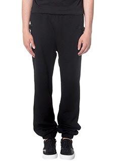 Marcelo Burlon-Pantaloni in cotone nero