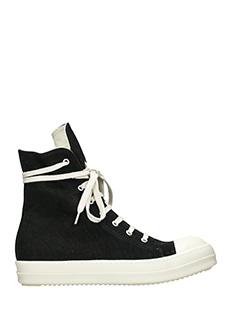 Rick Owens DRKSHDW-Sneakers in canvas nero