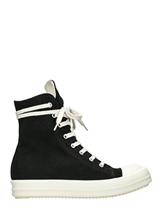 Rick Owens DRKSHDW-Sneakers black canvas sneakers