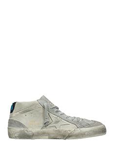 Golden Goose Deluxe Brand-Sneakers Mid Star in pelle e camoscio grigio