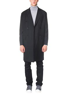 Valentino-black viscose outerwear