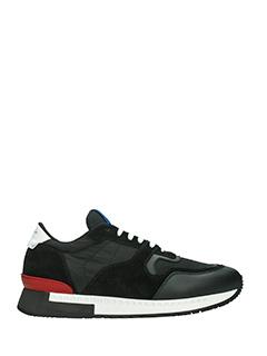 Givenchy-Sneakers Runner Active in camoscio e tessuto nero