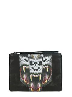 Marcelo Burlon-Las Totolas black leather clutch