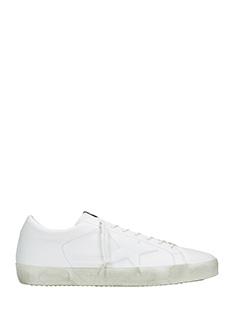 Golden Goose Deluxe Brand-wardrobe white leather sneakers