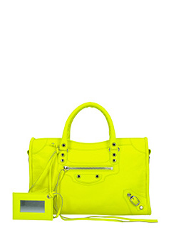 Balenciaga-class city s aj yellow leather bag