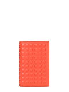 Balenciaga-Portafoglio in pelle arancione