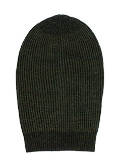 Rick Owens-Cappello Big Hat in lana dark dust