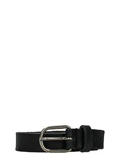 Maison Margiela-Cintura in pelle nera