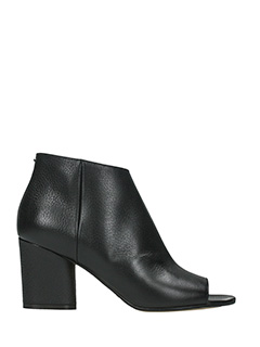Maison Margiela-black leather ankle boots