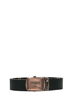 Givenchy-Cintura Belt Plate in pelle nera