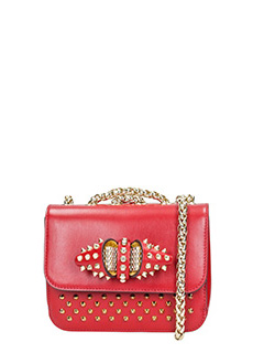 Christian Louboutin-Sweet charity b red leather bag