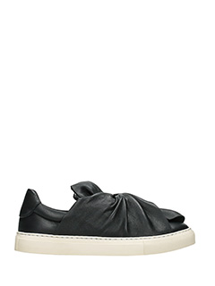 PORTS 1961-Sneakers Bow in pelle nera