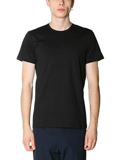 Jil Sander-T-Shirt Double in jersey nero