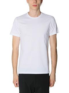 Jil Sander-T-Shirt Double in jersey bianco