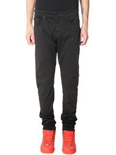 Balenciaga-black cotton pants