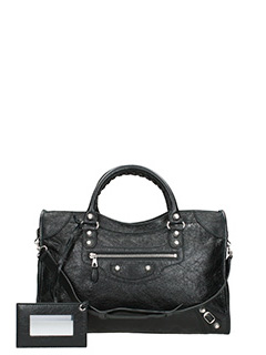 Balenciaga-Borsa Giant 12  City in pelle nera