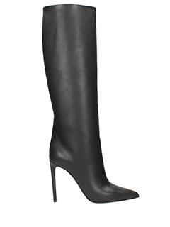 Balenciaga-black leather boots