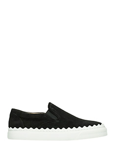 Chlo�-Sneakers July in pelle nera
