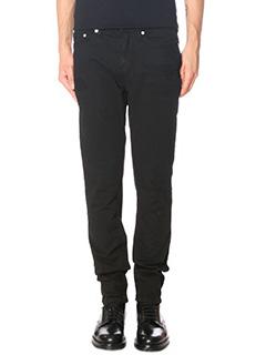 Neil Barrett-black cotton jeans
