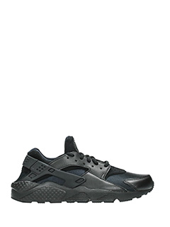 Nike-Sneakers Huarache Run in pelle nera