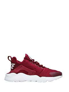 Nike-Sneakers Huarache Run in pelle e camoscio bordeaux