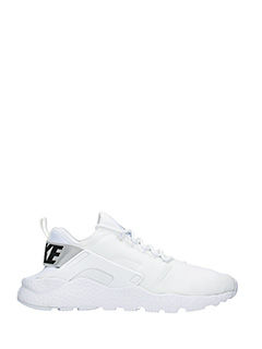 Nike-Sneakers Huarache Run in pelle e  nylon bianco