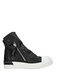 Cinzia Araia-Sneakers Skyn Ring in pelle nera