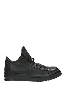 Cinzia Araia-Skyn ring black leather sneakers