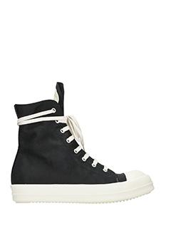 Rick Owens DRKSHDW-Sneakers in tessuto nero