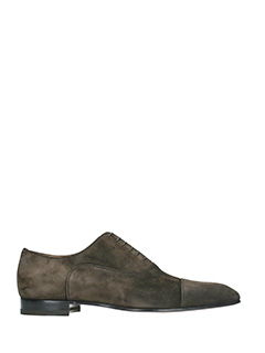 Christian Louboutin-Greggo brown suede lace up shoes