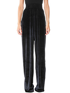 Vetements-black chenille pants