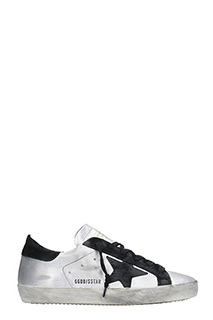 Golden Goose Deluxe Brand-Sneakers Superstar  in pelle laminata argento